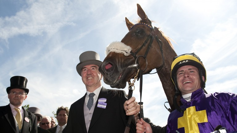 With Rite Of Passage and Dermot Weld at Ascot after winning the Gold Cup in 2010