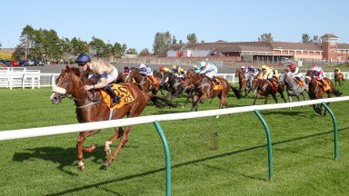 MAGICAL SPIRIT (Kevin Stott) wins the QTS SILVER CUP at AYR 19/9/20Photograph by Grossick Racing Photography 0771 046 1723