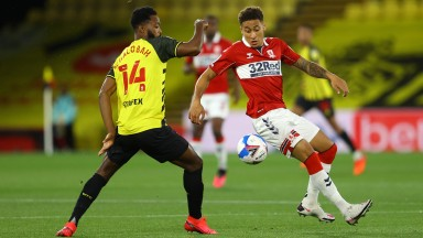 Middlesbrough's Marcus Tavernier in action during the 1-0 defeat at Watford