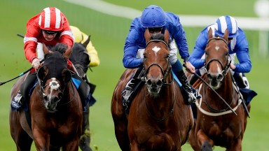 La Barrosa (centre): a 750,000gns purchase and unbeaten in two starts for Charlie Appleby
