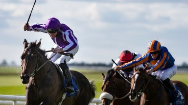 High Definition and Seamie Heffernan wins the Beresford Stakes (Group 2).The Curragh Racecourse.Photo: Patrick McCann/Racing Post 26.09.2020
