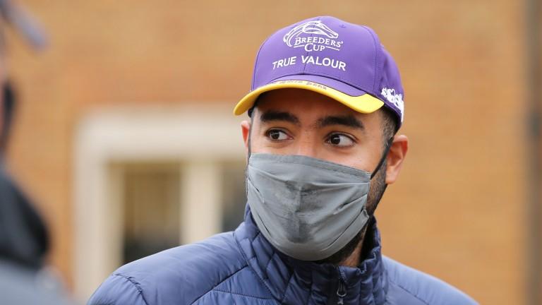 Qatar Racing's Sheikh Fahad on the Tattersalls sales ground on Thursday