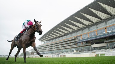 Enable (Frankie Dettori) wins an historic third King George VI and Queen Elizabeth QIPCO StakesAscot 25.7.20 Pic: Edward Whitaker/Racing Post