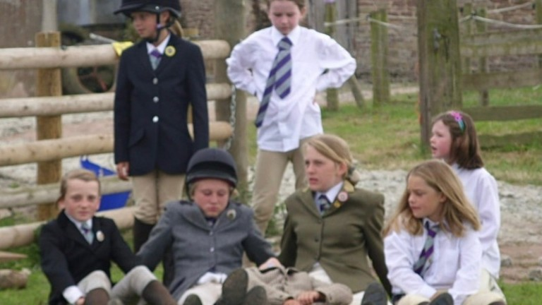 Hollie Doyle (front left) in her formative years at Pony Club