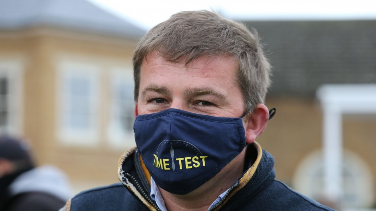 Tim Lane: The National Stud director sports his Time Test mask