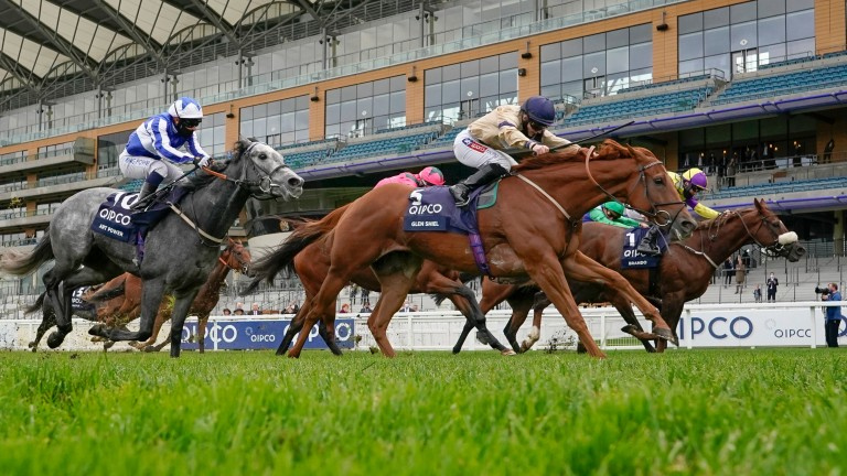 Hollie Doyle becomes a Group  1 winner for the first time aboard Glen Shiel (near side) at Ascot