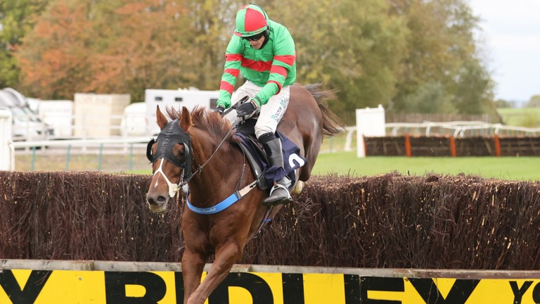 Red Giant and Sean Quinlan on their way to winning the Durham National at Sedgefield