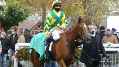 Rougir and Mickael Barzalona return to unsaddle after winning the G3 Prix Reservoirs at Deauville