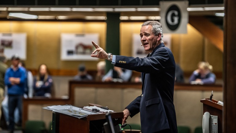 Henry Beeby on the Goffs rostrum