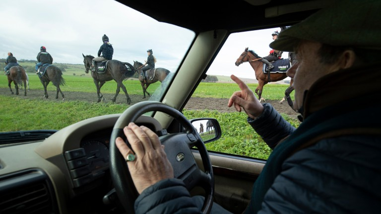 Nicky Henderson keeps a watchful eye on his string