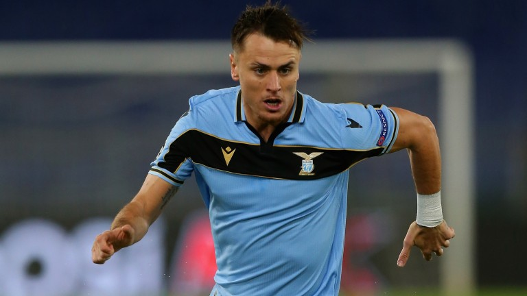 Patric of Lazio in action during the Champions League