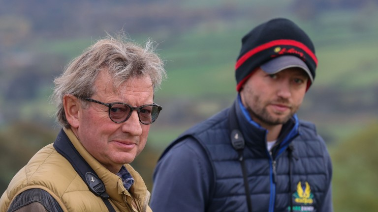 Trainer Mark Johnston with son and assistant Charlie Johnston at Middleham 23/10/20GROSSICK PHOTOGRAPHYThe Steadings Rockhallhead Collin DG1 4JW 07710461723www.grossick.co.ukJOHN GROSSICK