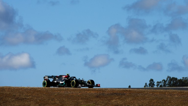 Valtteri Bottas was fastest in practice for the Portuguese Grand Prix