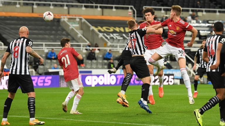 Newcastle struggled against Manchester United