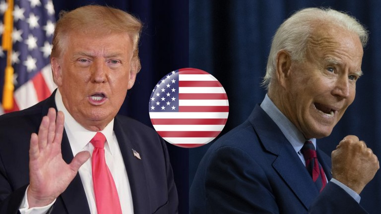 Joe Biden (right) is set to replace Donald Trump in the White House