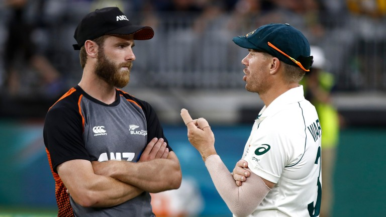 Kane Williamson (left) and David Warner are IPL teammates with Hyderabad