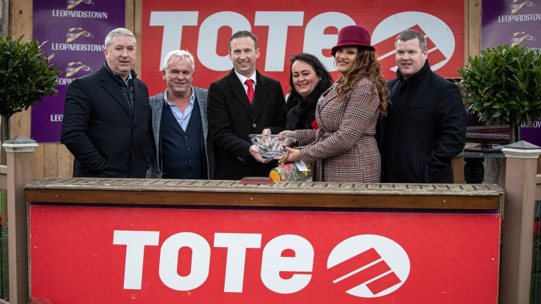 Noel (left) and Valerie Moran (second right) after The Bosses Oscar's victory at Leopardstown