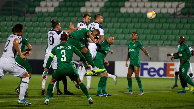 Harry Kane scored Tottenham's first goal during in their 3-1 win at Ludogorets