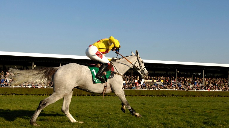 Liam Heard pictured aboard subsequent Grand National hero Neptune Collonges