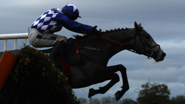 Duffle Coat and Jonathan Burke on their way to success at Wetherby last month