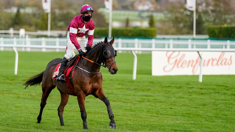 Robbie Power aboard Tiger Roll after pulling him up in the cross-country