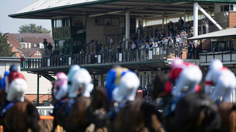 Spectators enjoy racing at Warwick during a pilot event in September