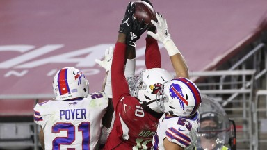 DeAndre Hopkins catches the game-winning touchdown pass for the Arizona Cardinals against the Buffalo Bills