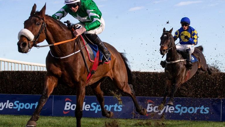 Presenting Percy accelerates past Kemboy at Thurles on Thursday