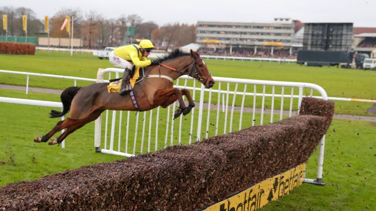 Lostintranslation puts in a brilliant jump on his way to winning last year's Betfair Chase