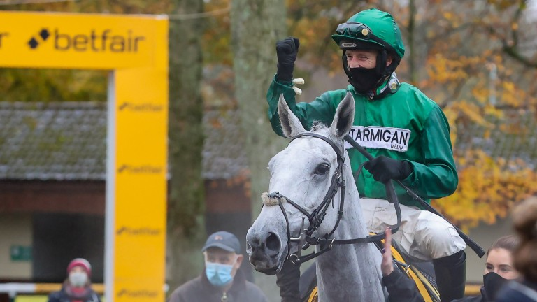 Daryl Jacob punches the air in delight