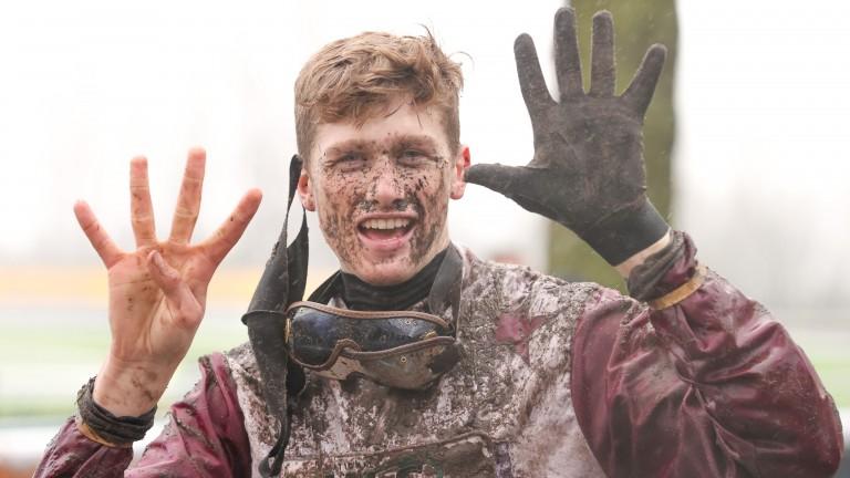 Jockey Fergus Gillard enjoys Main Fact's ninth consecutive victory