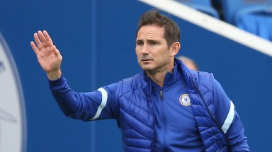 BRIGHTON, ENGLAND - AUGUST 29: Frank Lampard, Manager of Chelsea  during the pre-season friendly between Brighton & Hove Albion and Chelsea  at Amex Stadium on August 29, 2020 in Brighton, England. (Photo by Steve Bardens/Getty Images)
