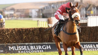 RETURN TICKET and Sean Quinlan win at Musselburgh 23/11/20Photograph by Grossick Racing Photography 0771 046 1723