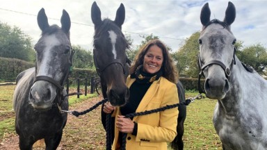 Sheila Lewis: all smiles with her three winners at Hereford that initiated a remarkable run of form