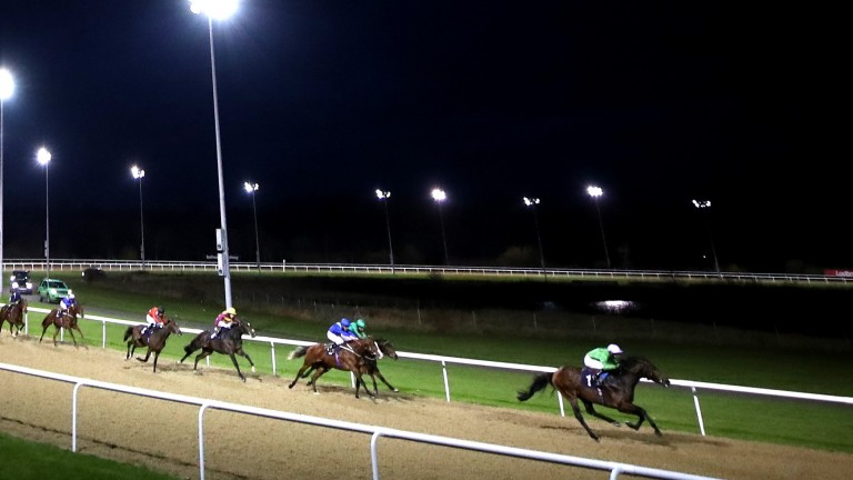 Uncle Bryn and Robert Havlin go clear at Wolverhampton on Tuesday