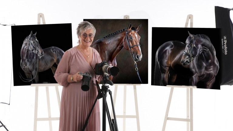 Award-winning photographer Sinead Ni Riain with some of her outstanding collection