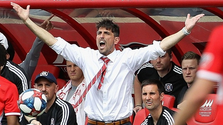 Reading manager Veljko Paunovic during his spell at Chicago Fire