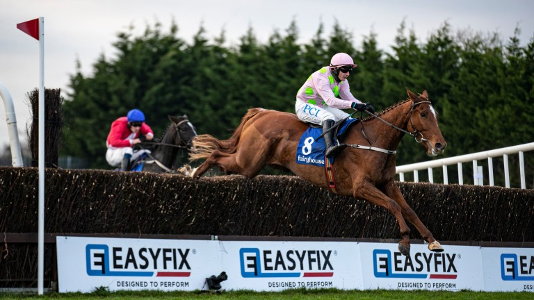 Monkfish and Paul Townend put in a clean jump at the last on their way to victory at Fairyhouse