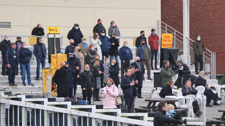 Ready for the off: it's great to see spectators back in the stands at Lingfield once more