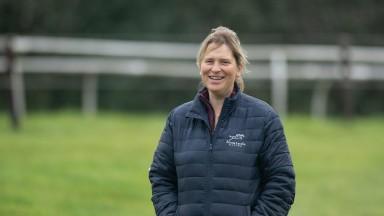 Emma Lavelle on the training grounds near Marlborough 29.9.20 Pic: Edward Whitaker