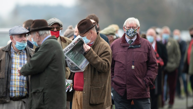 Queues at Ludlow prior to the track's seven-race card