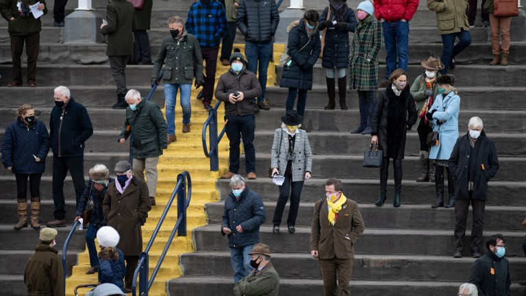 Racegoers at Ludlow observe coronavirus protocols