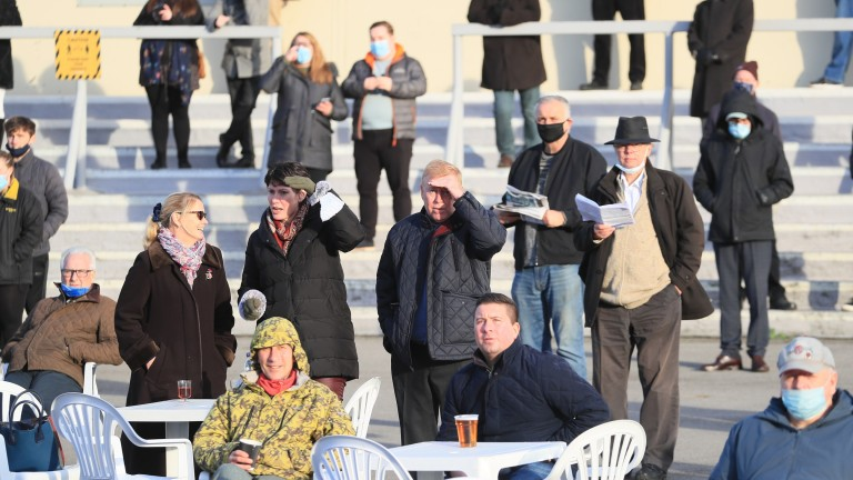 It may have been cold but racegoers are loving being back at the races at Lingfield