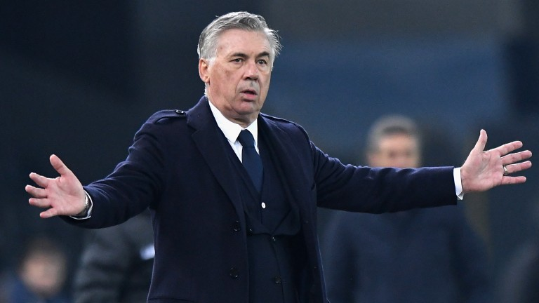 Carlo Ancelotti was on the mark at home and away with Everton winning in the Cup and his well-bred Honor And Pleasure getting off the mark at Deauville