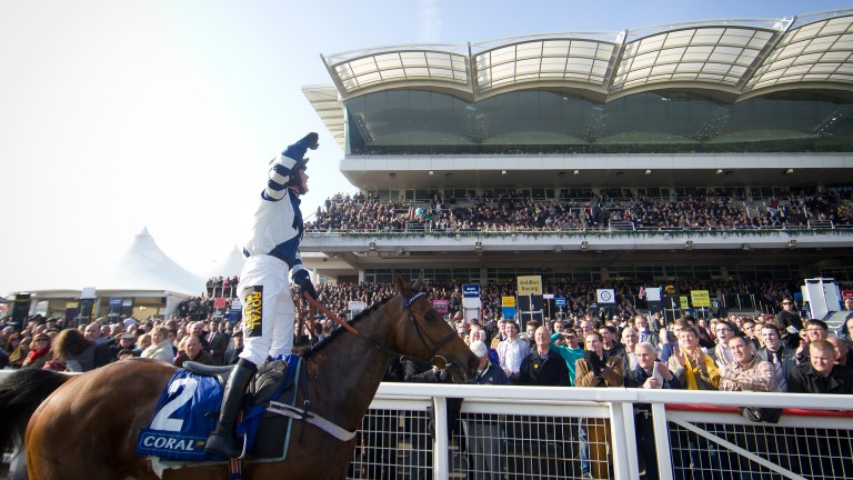 Big-race glory in the 2014 Coral Cup for Whisper and Nico de Boinville