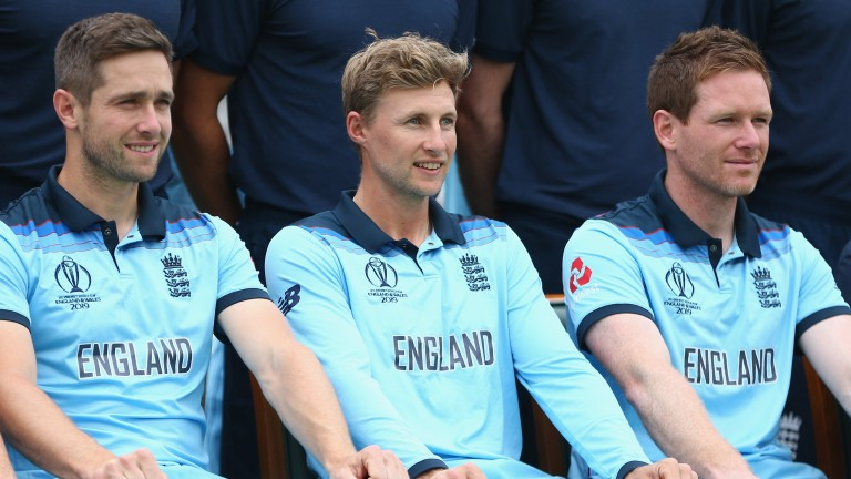 Chris Woakes and Joe Root join Eoin Morgan (right) in England's ODI team