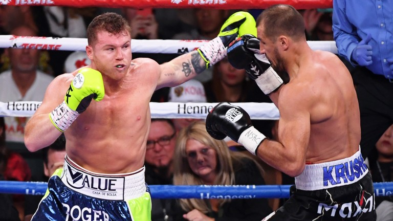 Canelo Alvarez (left) is back in action this weekend