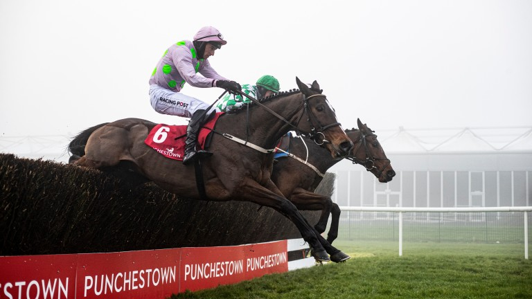 Min: clears the last en route to a third win in the John Durkan