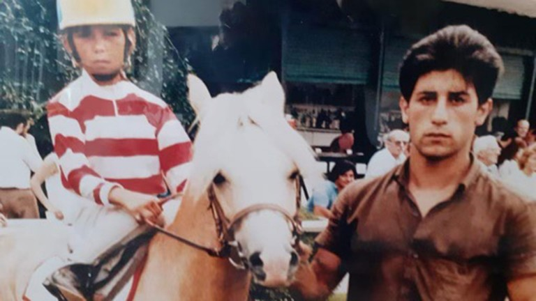 Ten-year-old Frankie Dettori aboard Silvia at San Siro – his first ride in a children's race