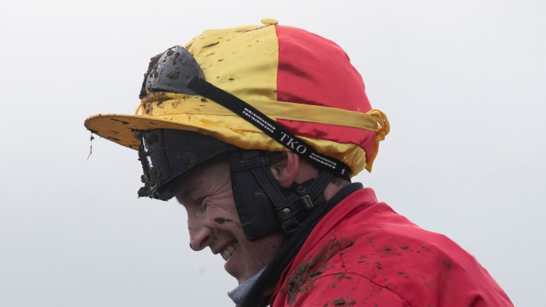 Peter Carberry returns after his victory on Brosna Rocco at Tramore on Thursday